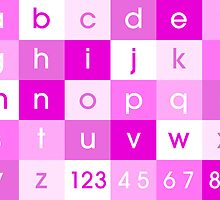 Alphabet Pink by ArtPrints
