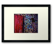 The Red Door, One-roomed Dwelling, Cultra, County Down. Framed Print