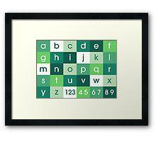 Alphabet Green Framed Print