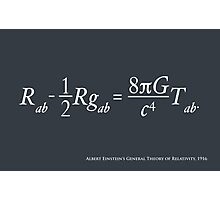 Einstein Theory of Relativity Photographic Print