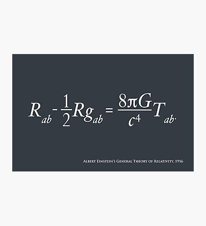 Einstein Theory of Relativity Photographic Print