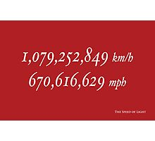 The Speed of Light Photographic Print