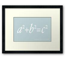 Pythagoras Maths Equation Framed Print
