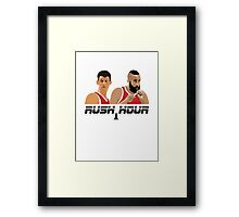 James Harden Jeremy Lin Rush Hour Framed Print