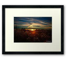 Sunset in Kentucky Framed Print