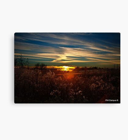 Sunset in Kentucky Canvas Print