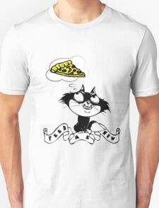feed me now cat by rogers bros T-Shirt