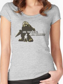 Bioshock: Are you there, Mr. Bubbles? Women's Fitted Scoop T-Shirt