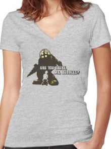 Bioshock: Are you there, Mr. Bubbles? Women's Fitted V-Neck T-Shirt