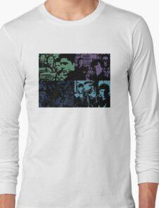 Cross Over Silhouette Long Sleeve T-Shirt