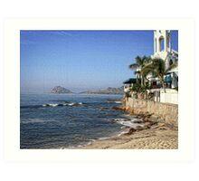 Ocean Blue Mexico Art Print