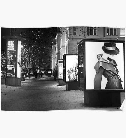 Fashion ad in black and white Poster