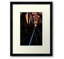 Sunset on the trestle  Framed Print