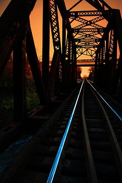 Sunset on the trestle  by Phil Campus