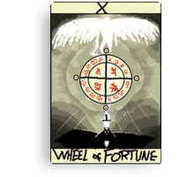 Tarot: The Wheel of Fortune Canvas Print