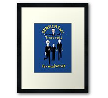 Gentlemen's Thin and Tall Framed Print