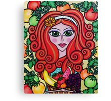 Lady of Summer, Creations by Linz Canvas Print