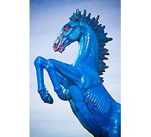 DIA Blue Mustang Portrait 2 Photographic Print