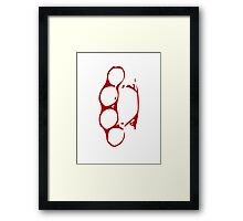 Red Brass Knuckles T Shirt Design Framed Print