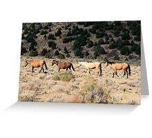 Walking,Virginia City Highlands,Virginia City,Nevada USA Greeting Card