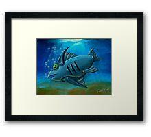 Robot Fish Framed Print
