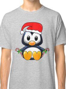 Cute Cartoon Christmas Penguin Classic T-Shirt