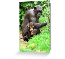 Chimpanzee and her baby Greeting Card