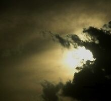 Sun behinds clouds.... by Aabha bajaj