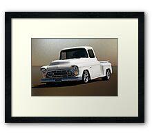 1957 Chevrolet Custom Pickup Framed Print