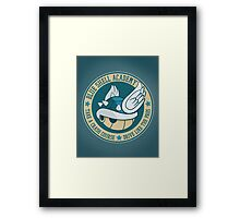 Blue Shell Academy Framed Print