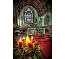 Christmas Candles Photographic Print