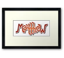 """Matthew"" Ambigram (reversible image) Framed Print"
