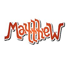 """Matthew"" Ambigram (reversible image) Photographic Print"