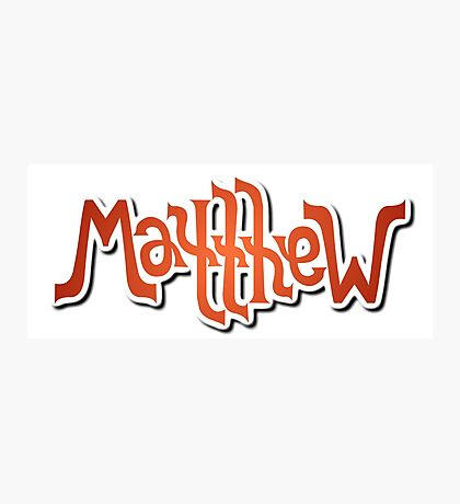 """Matthew"" Ambigram (reversible image) Photographic Print"