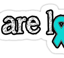 You are loved - Food Allergy Ribbon Sticker