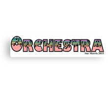 Orchestra Soft Rainbow Canvas Print