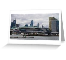 Etihad Stadium from Docklands Greeting Card