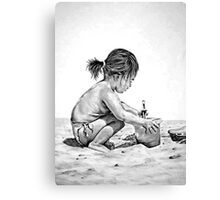 Dig This - Child Canvas Print