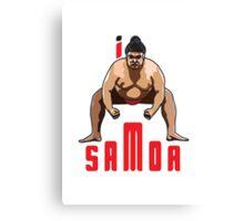 I LOVE SAMOA T-shirt Canvas Print