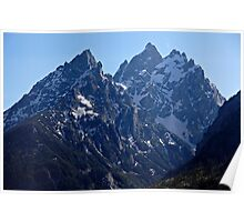 Grand Tetons Evening Blue Poster