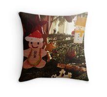 Gingerbread decoration Throw Pillow