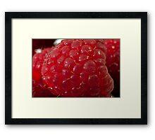 Raspberry Macro Framed Print