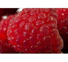 Raspberry Macro Photographic Print