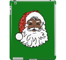 black santa claus iPad Case/Skin