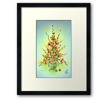 Simple greeting - Flowers 1 Framed Print