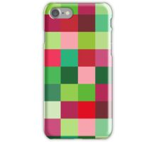 Red green pattern background iPhone Case/Skin