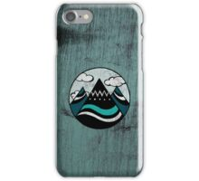 Adventure Moutain - Wood Blue iPhone Case/Skin