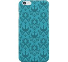 Rebel & Jedi Damask - Light Blue iPhone Case/Skin