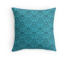 Rebel & Jedi Damask - Light Blue Throw Pillow