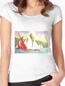 Racing Red Sails Women's Fitted Scoop T-Shirt